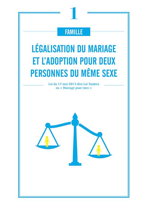 Légalisation du mariage et d'adoption pour deux personnes de même sexe