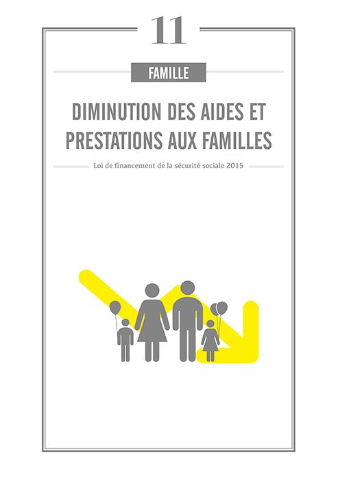 Diminution des aides et prestations aux familles