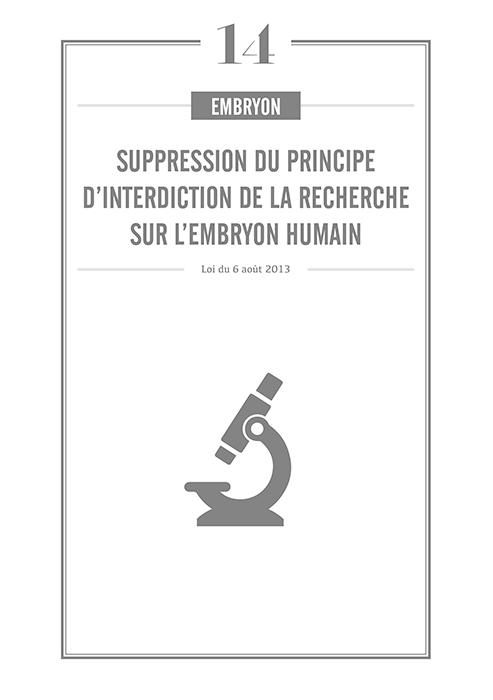 Suppression interdiction de la recherche sur embryon humain
