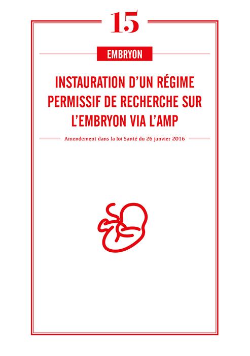 Instauration régime permissif de recherche sur l'embryon via l'AMP