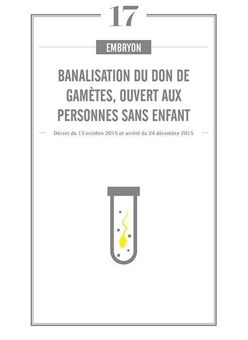 BANALISATION DU DON DE GAMETES, OUVERT AUX PERSONNES SANS ENFANT