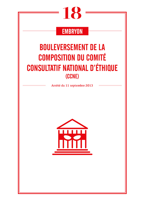 Bouleversement de la composition du Comité consultatif national d'éthique (CCNE)