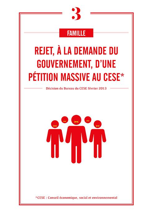 Rejet à demande du gouvernement de pétition massive au CESE