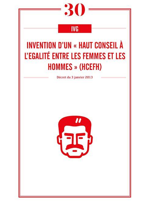 INVENTION D'UN « HAUT CONSEIL A L'EGALITE ENTRE LES FEMMES ET LES HOMMES » (HCEFH)