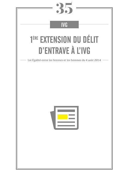 1ERE EXTENSION DU DELIT D'ENTRAVE A L'IVG