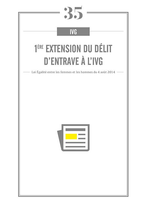 IVG : 1ere extension à la loi sur le délit d'entrave.