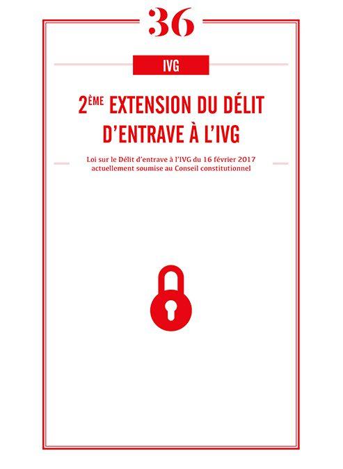 2EME EXTENSION DU DELIT D'ENTRAVE A L'IVG