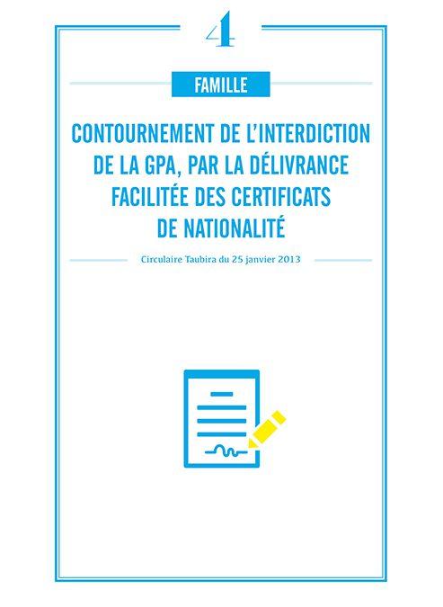 CONTOURNEMENT DE L'INTERDICTION DE LA GPA, PAR LA DELIVRANCE FACILITEE DES CERTIFICATS DE NATIONALITE