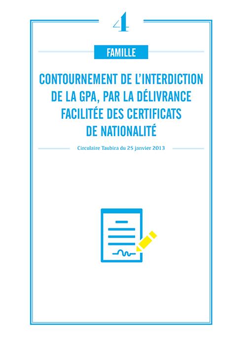 Contournement d'interdiction de GPA par délivrance facilitée des certificats de nationalité