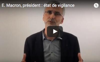 Emmanuel Macron, président de la République : «vigilance paisible»
